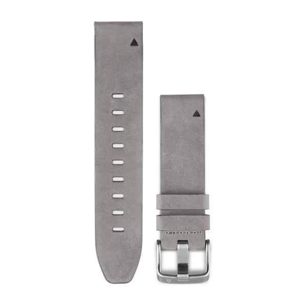 Kožený remienok QuickFit™ 20 na zápästie fénix 5S (Plus) - sivý (ND) 6e9621d2e1d