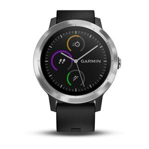 vívoactive 3, Black Silicone, Stainless Steel