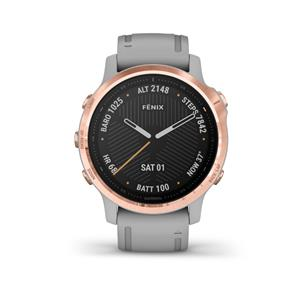 fénix 6S Sapphire, Rose Gold-tone, Powder Gray Band