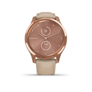 vivomove Luxe, 18K Rose Gold-Light Sand, Leather